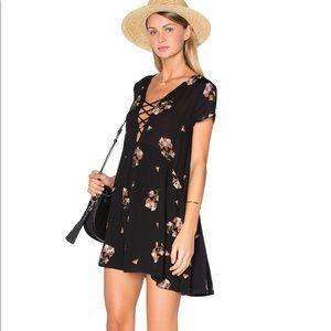 Amuse Society - Ludlow black floral babydoll dress
